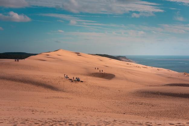 Wielka wydma pilat, najwyższa wydma europy w arcachon, aquitanie, francja.