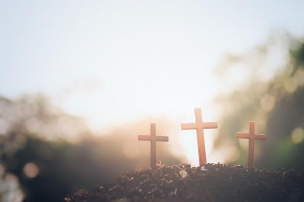 Wielkanoc, chrześcijaństwo copyspace tła.