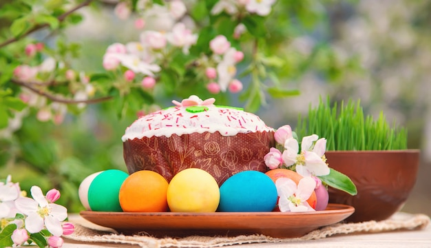 Wielkanoc martwa natura na wiosnę.