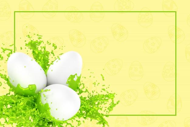 Wielkanocna kartka z pozdrowieniami 3d ilustracja
