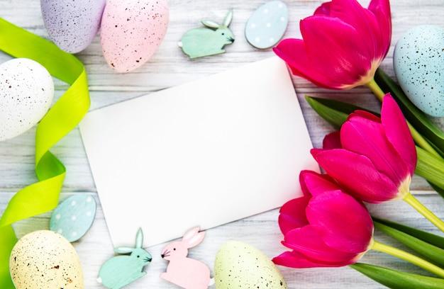 Wielkanocna kartka z pozdrowieniami