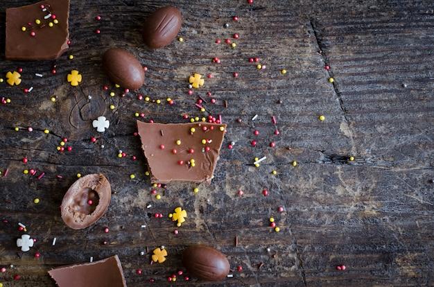 Wielkanocna kompozycja z czekoladą