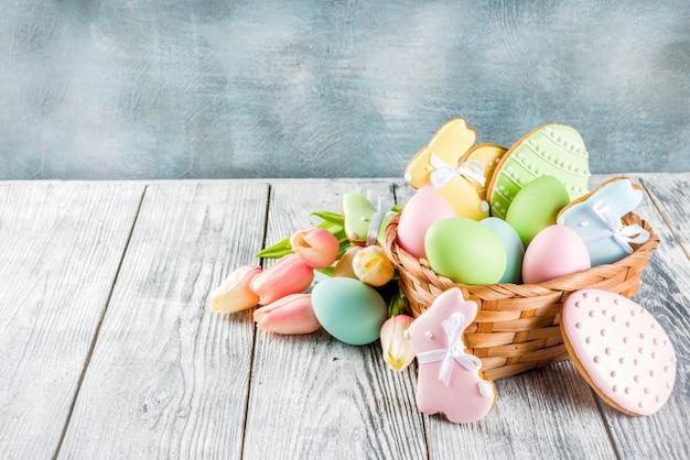 Wielkanocne ciasteczka tło