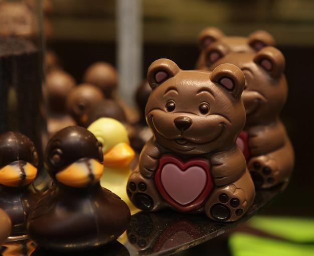 Wielkanocne czekoladowe zwierzęta