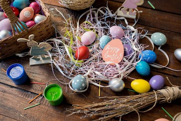 Wielkanocne dekoracje tło