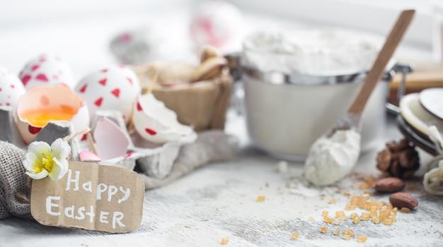 Wielkanocne gotowanie martwa natura