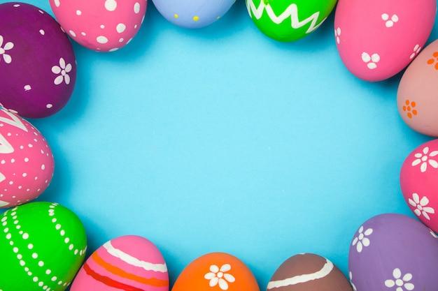 Wielkanocne jaja ramki tła.
