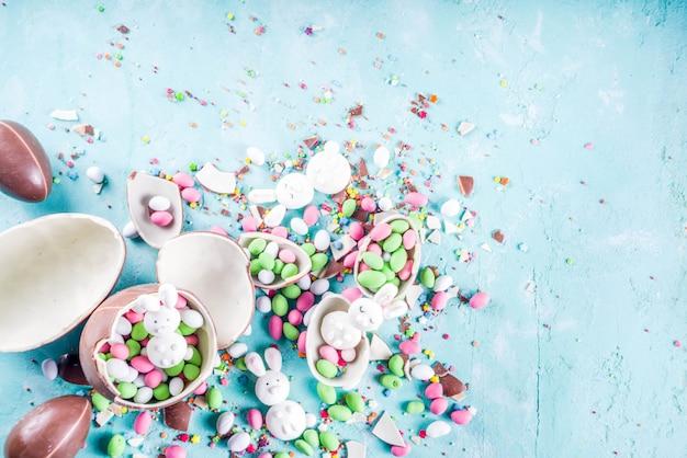 Wielkanocne słodycze tło