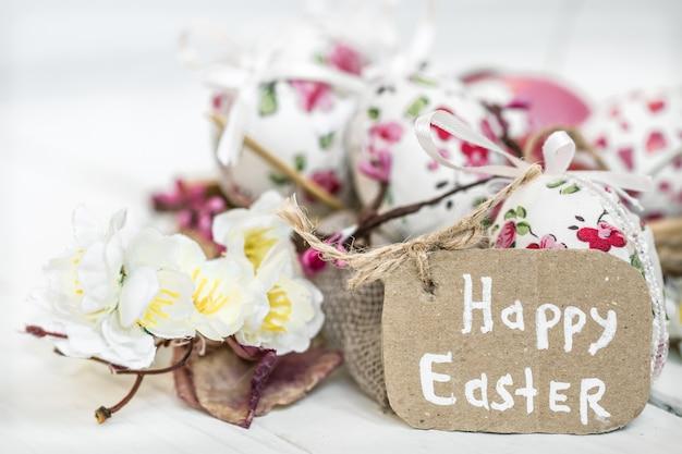 Wielkanocne tło miejsce na tekst