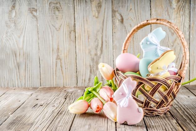 Wielkanocne wakacje pozdrowienia tła