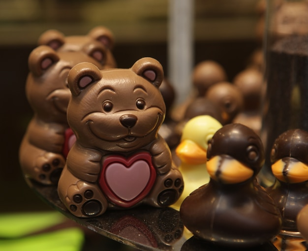 Wielkanocne zwierzęta czekoladowe