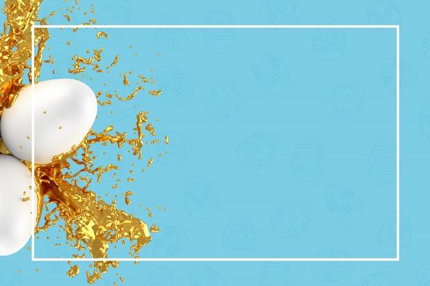 Wielkanocny kartka z pozdrowieniami szablon lub karta reklamowa