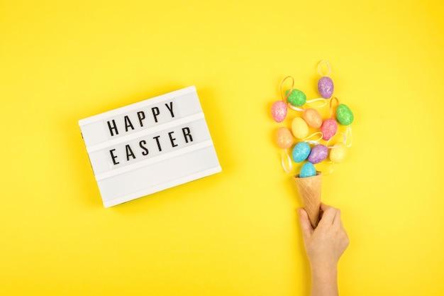 Wielkanocny skład, kartka z pozdrowieniami