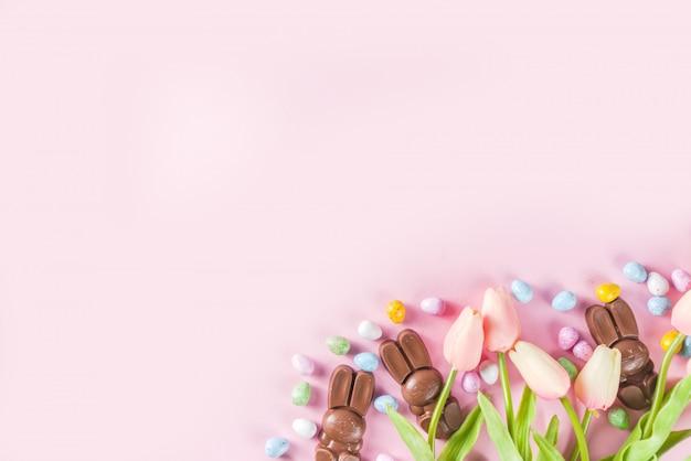 Wielkanocny skład tło