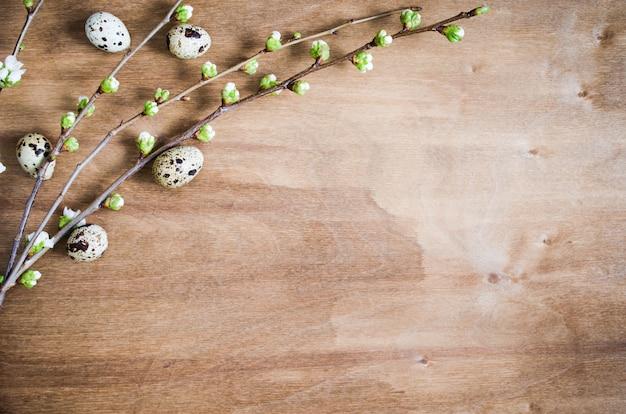 Wielkanocny tło. styl rustykalny.