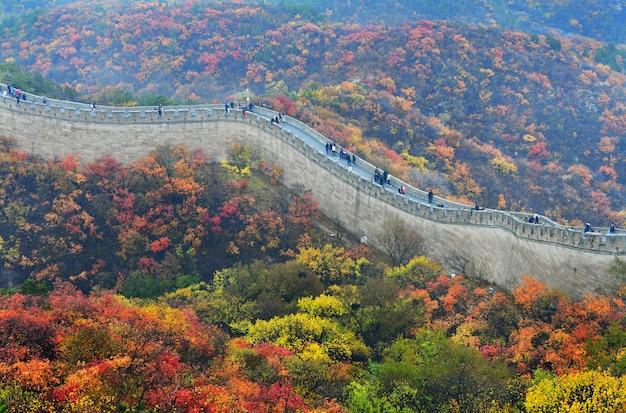 Wielki mur chiński jesienią