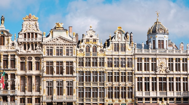 Wielki plac i budynki w brukseli, belgia