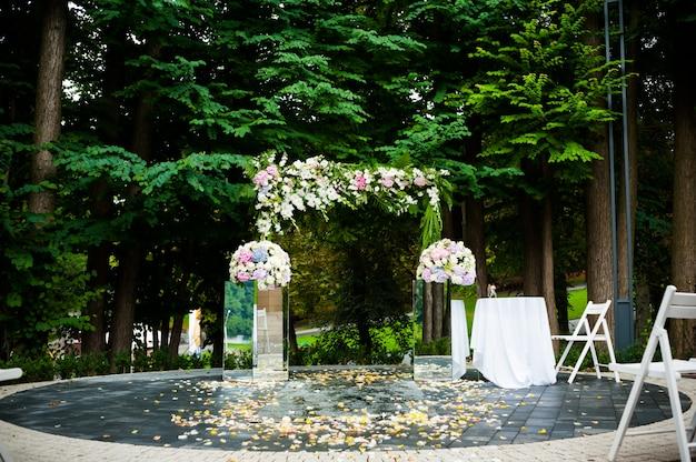 Wielki ślub uroczystości arch