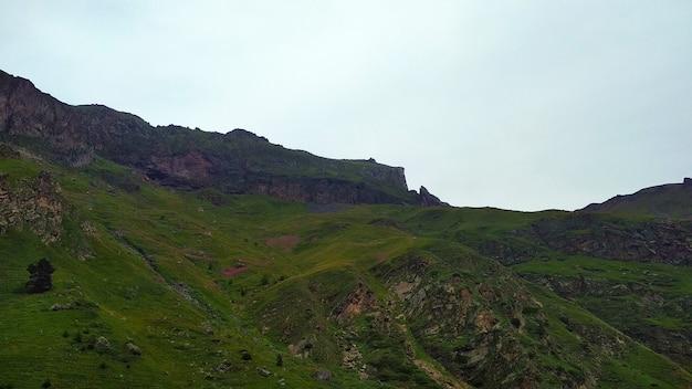 Wielkie skaliste zielone góry