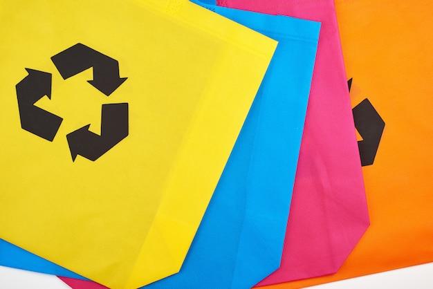 Wielobarwne wiskozowe torby przyjazne dla środowiska