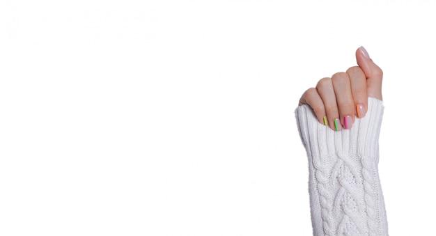 Wielobarwny nowoczesny manicure