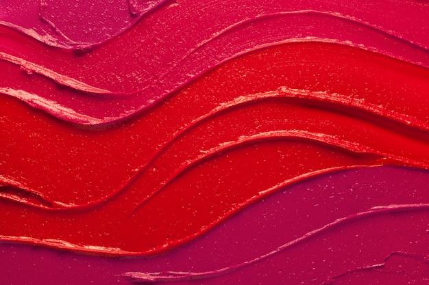 Wielobarwny szminka próbki rozmaz teksturowanej tło