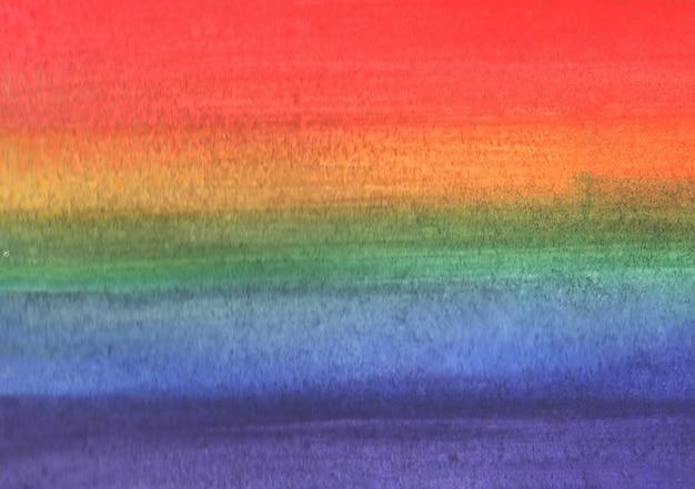 Wielobarwny tęczowy tło wykonane w akwareli. flaga lgbt. ilustracja