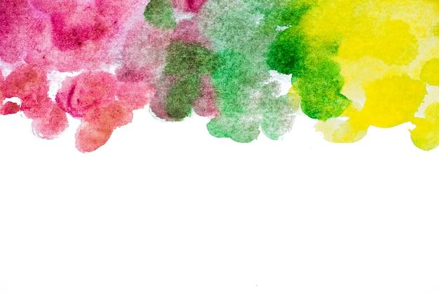 Wielokolorowe plamy malowane akwarela tekstury