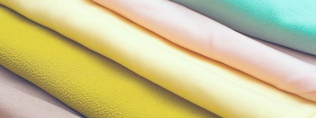 Wielokolorowe tło tkaniny