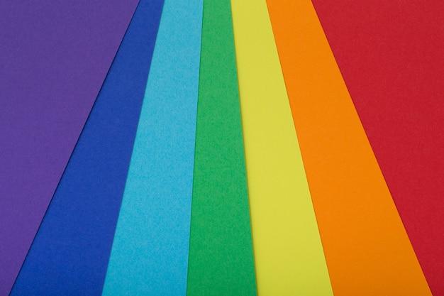 Wielokolorowe tło z tektury w różnych kolorach