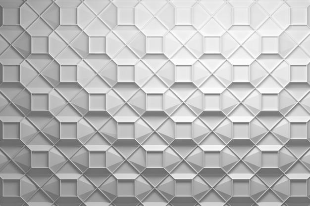 Wielopoziomowy biały wzór geometryczny