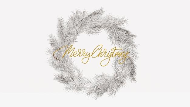 Wieniec z napisem wesołych świąt