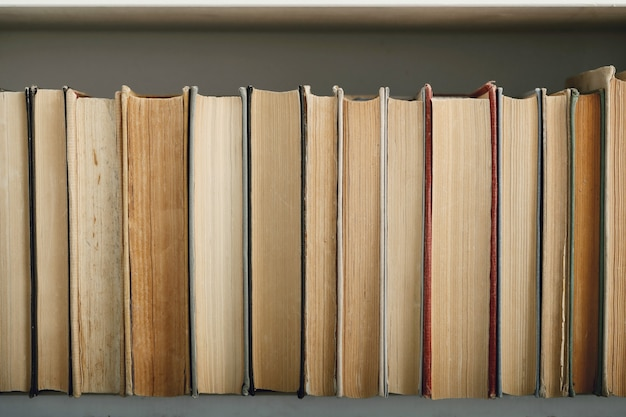 Wiersz książek jako tło, koncepcja literatury