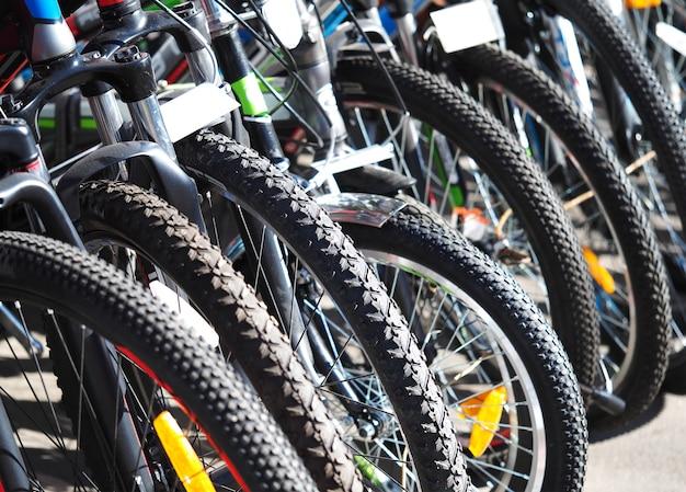 Wiersz tła aktywności rowerów