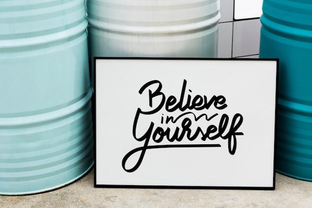 Wierz w siebie cytat