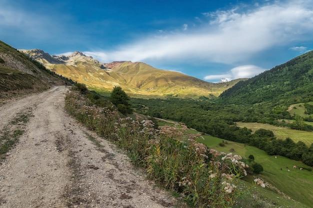 Wieś góry swanetia gruzja