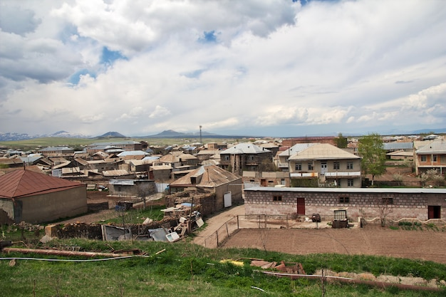 Wieś w górach kaukazu, armenia