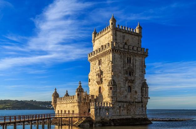 Wieża belem lub torre de belem w lizbonie, portugalia