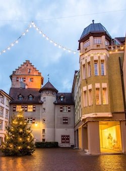 Wieża churertor w feldkirch - austria