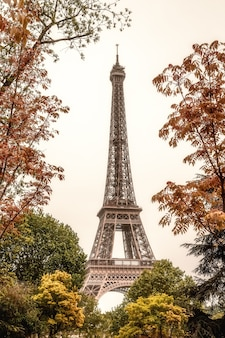 Wieża eiffla w paryżu francja zdjęcie pionowe