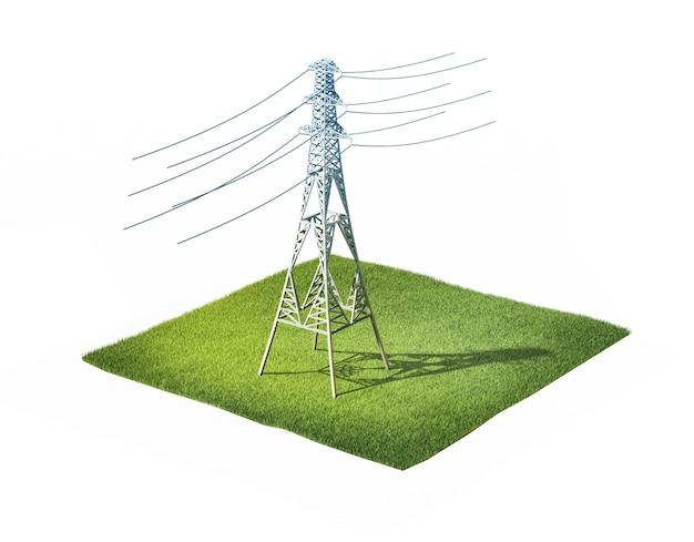 Wieża elektryczna wysokiego napięcia