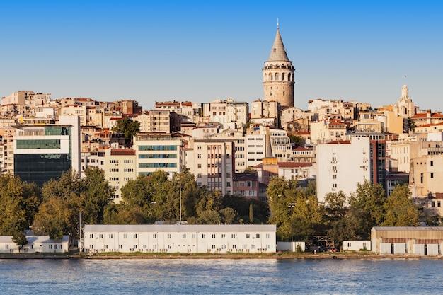 Wieża galata (galata kulesih) nazwana przez genueńczyków christea turris to średniowieczna kamienna wieża w stambule w turcji