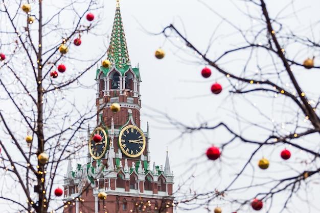Wieża spasskaya na placu czerwonym