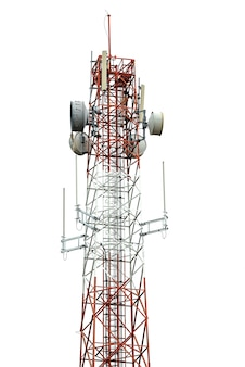 Wieża sygnalizacyjna na białym tle