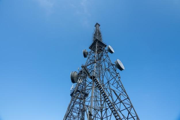 Wieża sygnałowa na szczycie góry