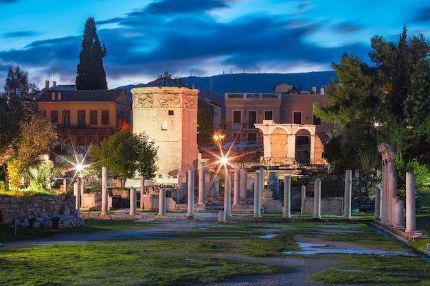 Wieża wiatrów w atenach, grecja