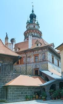 Wieża zamku cesky krumlov (czechy)