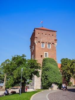 Wieża złodzieja w zamku w słoneczny letni dzień