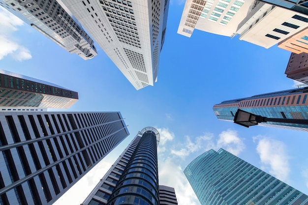 Wieżowce w singapurze miasto