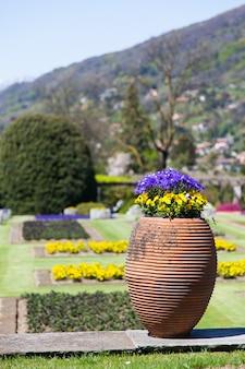 Willa taranto - włochy. słynny włoski ogród w pobliżu lago maggiore